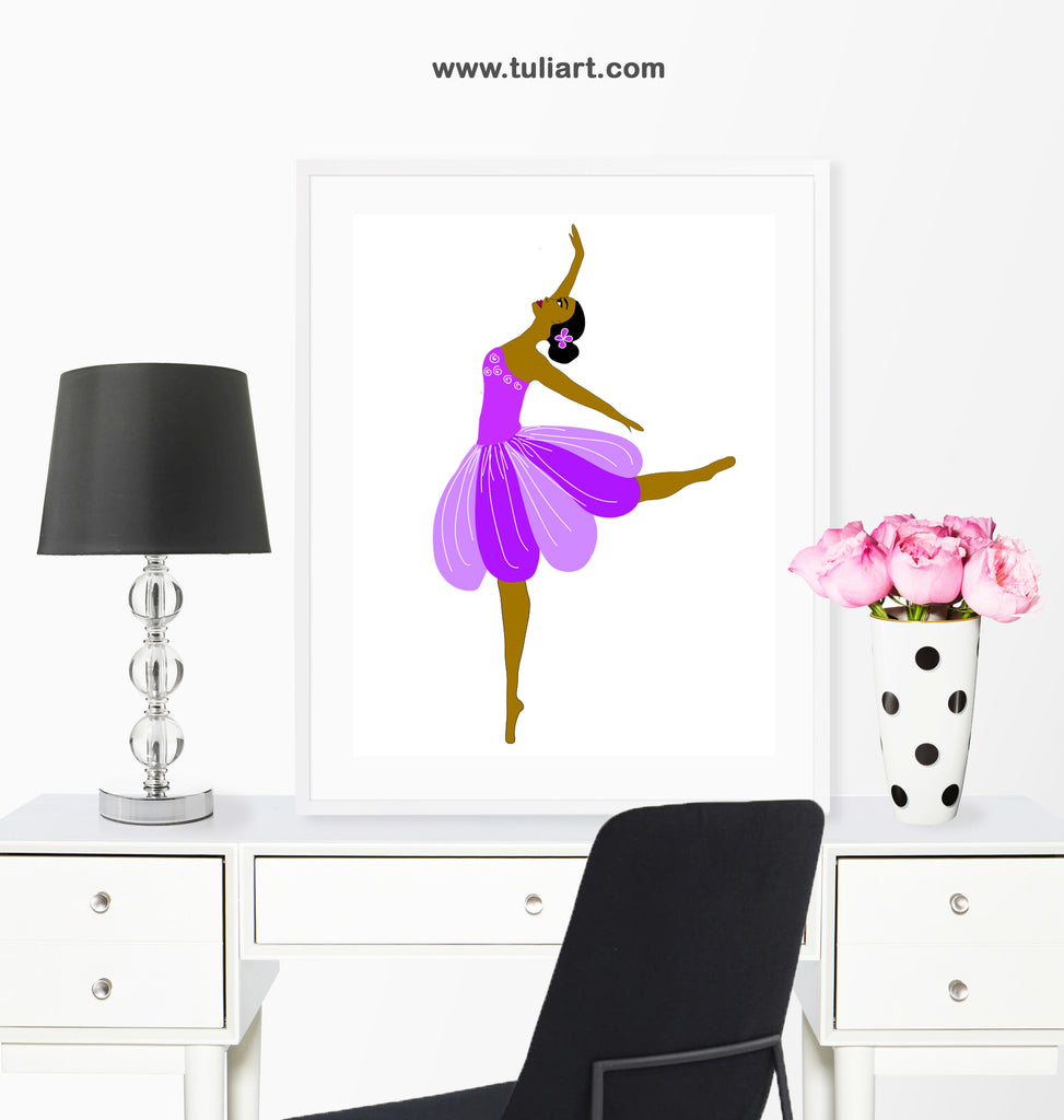 Ballerina Art Illustration-Molly