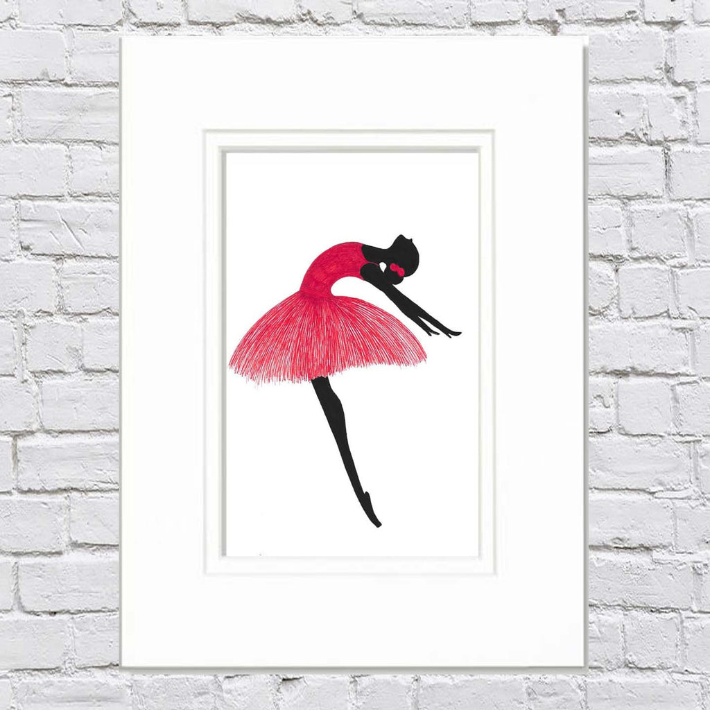 Ballerina Art Illustration - Ingrid Silva