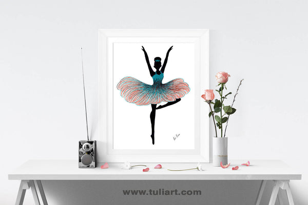 Ballerina Art Illustration - Janelle