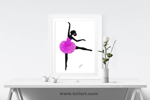 Ballerina Art Illustration - Kallea