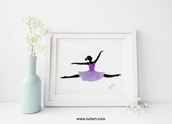 Ballerina Art Illustration - Kassandra