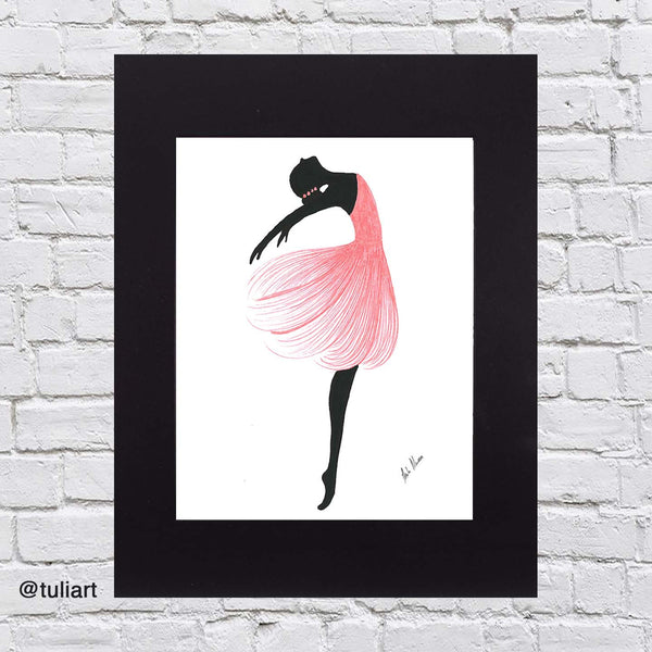 Ballerina Art Illustration - Maru