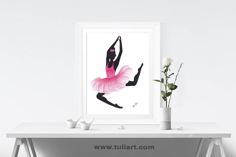 Ballerina Art Illustration - Misty