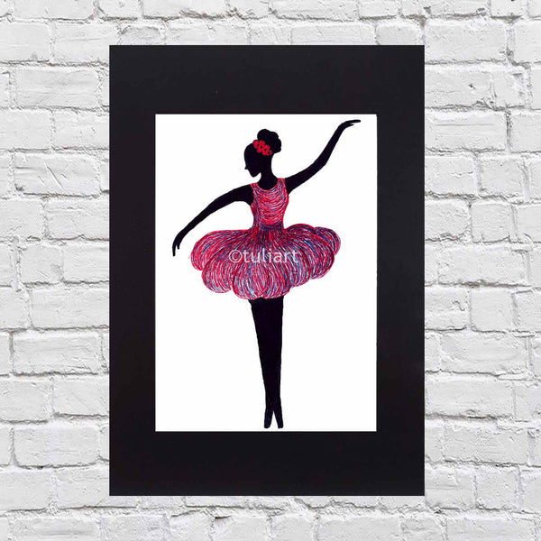 Ballerina Art Illustration - Nina