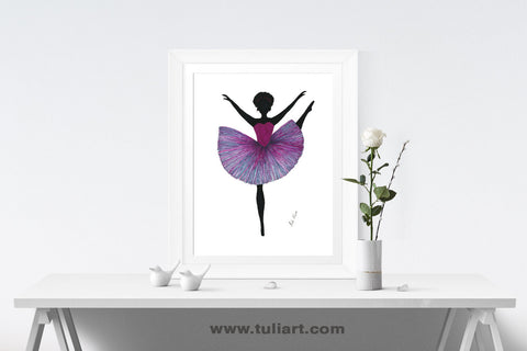 Ballerina Art Illustration - Pelo