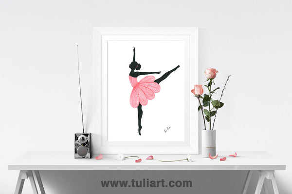 Ballerina Art Illustration - Sandra J