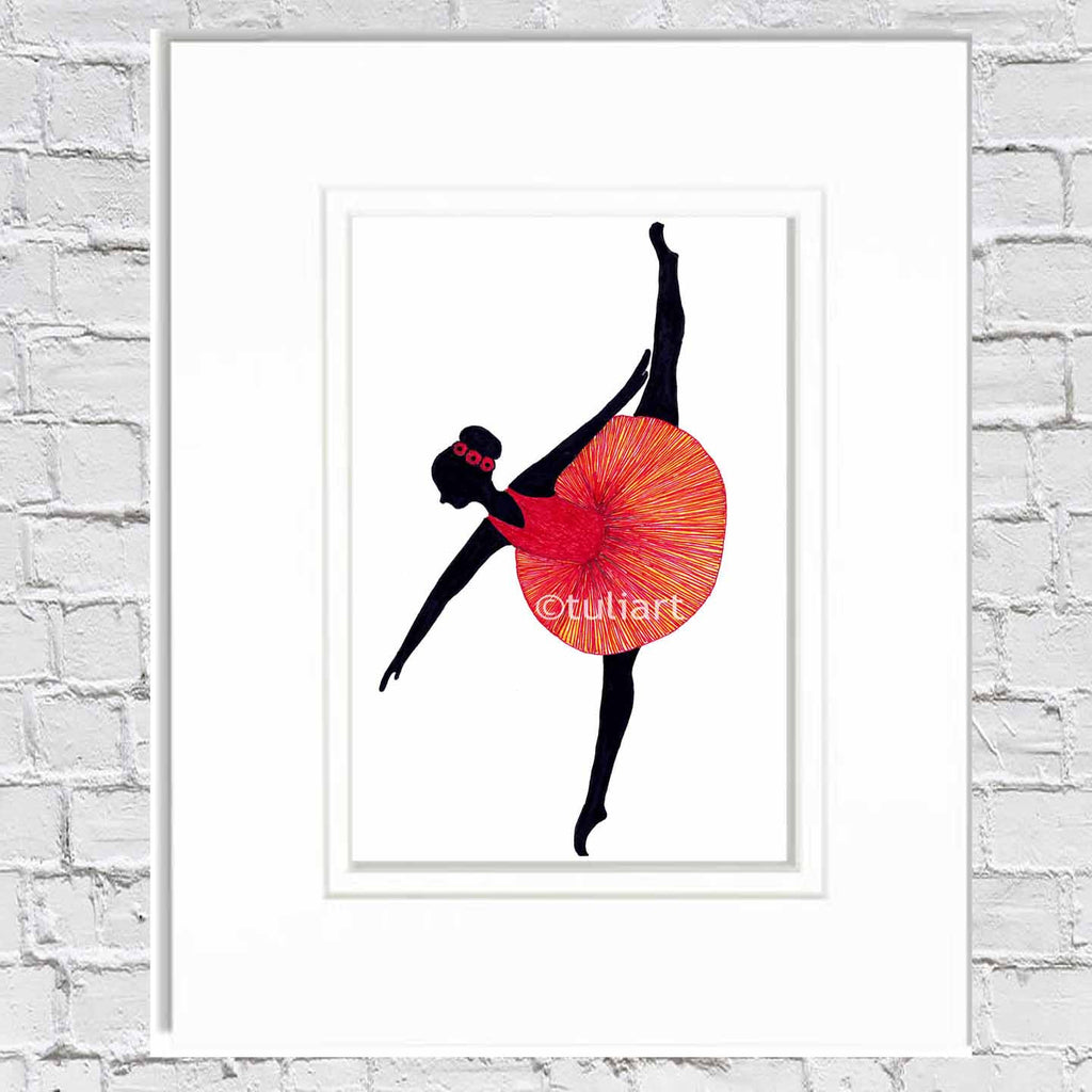 Ballerina Art Illustration - Summer