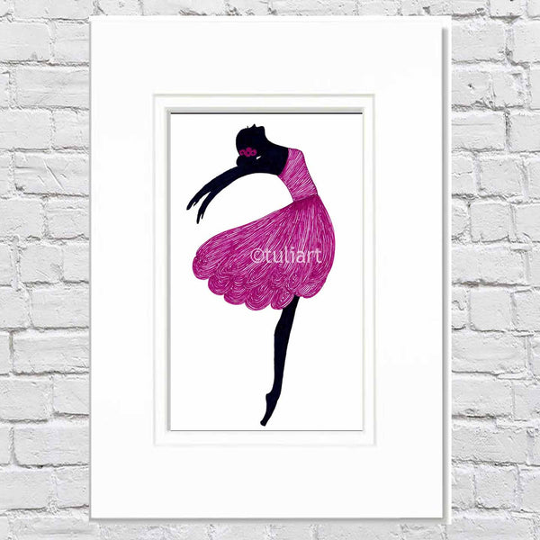 Ballerina Art Illustration - Symphony