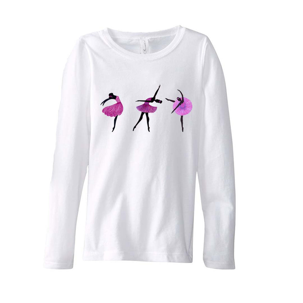 T-Shirt-Pink Ballerina Long Sleeve