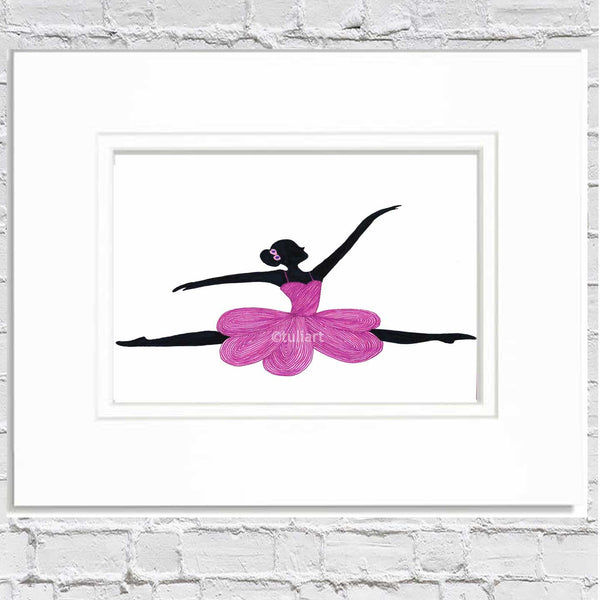 Ballerina Art Illustration - Yvanna