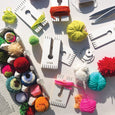 4-IN-1 PARTY PACK: Paper Pom Pom & Tassel Maker+