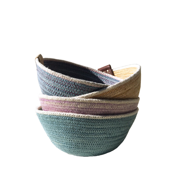 ACCESSORY: Botanical Dyed Rope Storage Bowl (Small)
