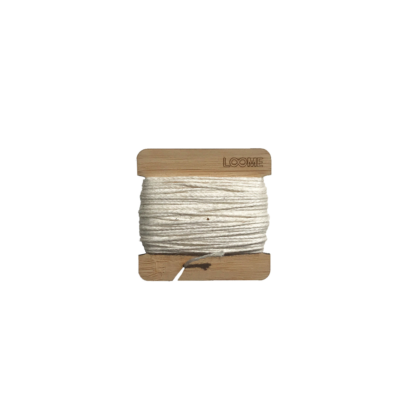 ACCESSORY: Bobbin with Cotton Warp (for Weaving Looms)