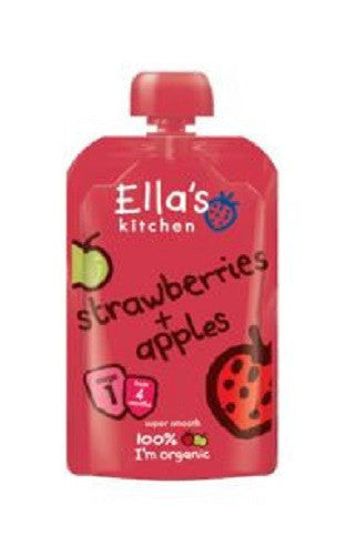 Ellas Kitchen S1 Strawberries & Apples 120g - Vitalityfoods