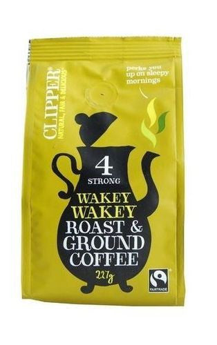 Clipper Ft Wakey Wakey R&G Coffee 227g - Vitalityfoods