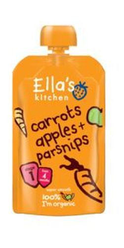 Ellas Kitchen S1 Carrots Apples & Parsnips 120g - Vitalityfoods