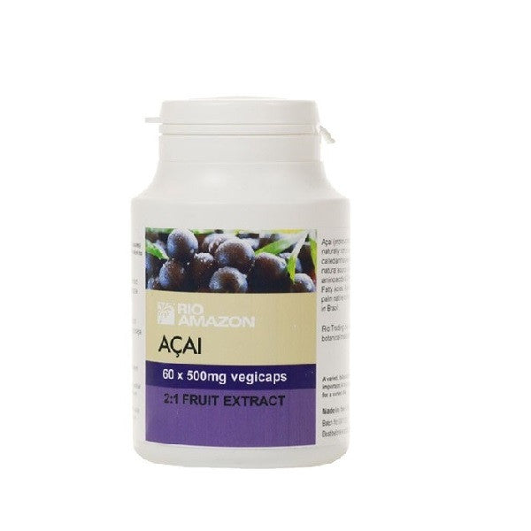 Rio Amazon Acai 500mg 60 Vegicaps - Vitalityfoods