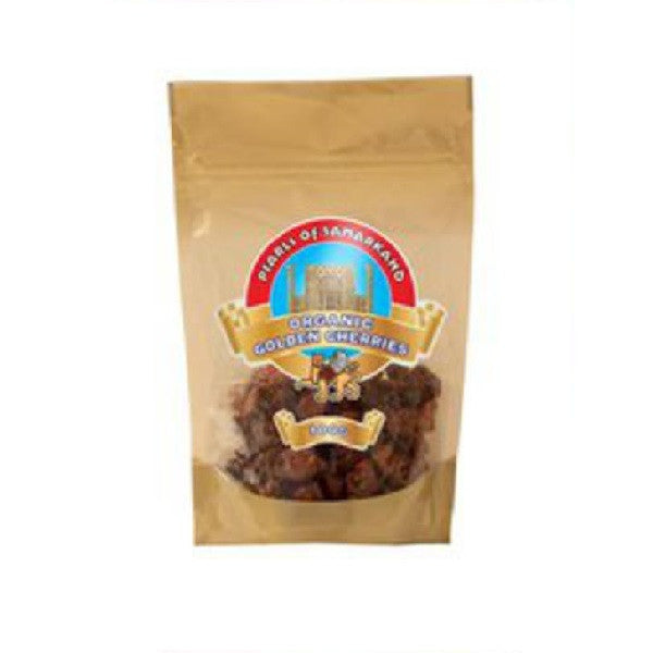 Pearls of Samarkand Org Dried Golden Cherries 100g - Vitalityfoods