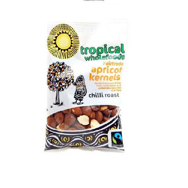 Tropical Wholefoods Apricot Kernals Chilli Roast 50g - Vitalityfoods