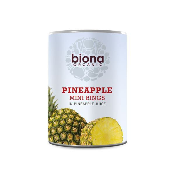 Biona Org Pineapple Pieces in Juice 425g - Vitalityfoods