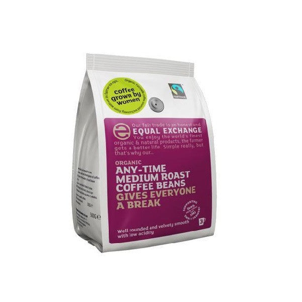 Equal Exchange Org FT Med Roast Coffee Beans 227g - Vitalityfoods