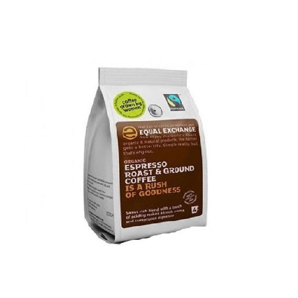Equal Exchange Org F/T Espresso Ground Coffee 227g - Vitalityfoods
