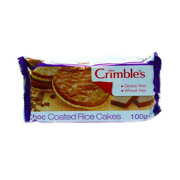 Mrs Crimbles Choc Coated Rice Cakes 100g - Vitalityfoods