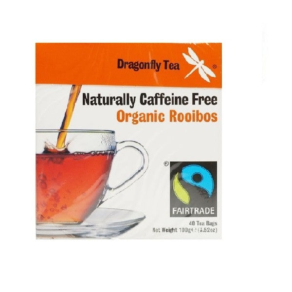 Dragonfly Tea Fairtrade Organic Rooibos Tea 40bag - Vitalityfoods