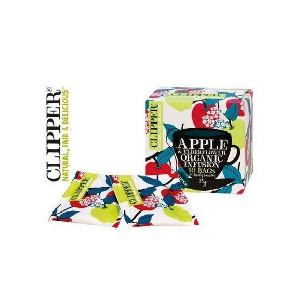 Clipper Apple and Elderflower 10bag - Vitalityfoods