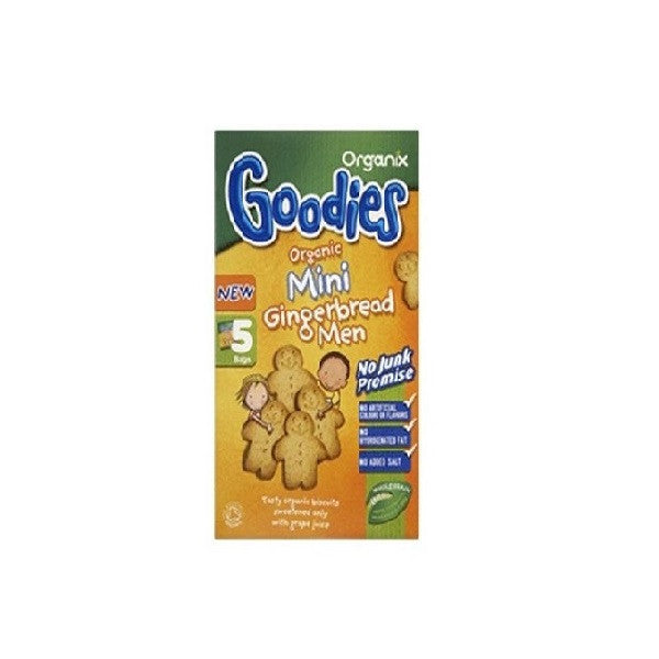Organix Goodies Biscuits G/Bread Men 25g - Vitalityfoods