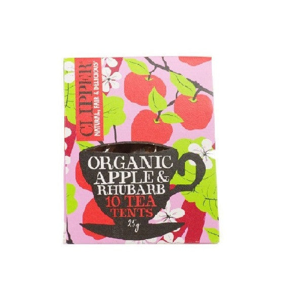 Clipper Apple and Rhubarb Tea Tents 10bag - Vitalityfoods