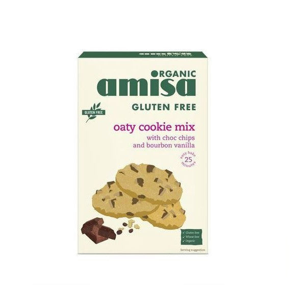Amisa GF Oaty Choc Chip Cookie Mix 200g - Vitalityfoods