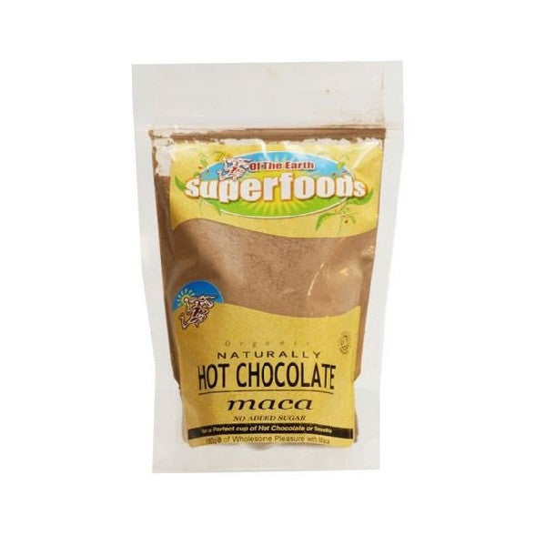 Of The Earth Org Natural Hot Chocolate Maca 180g - Vitalityfoods