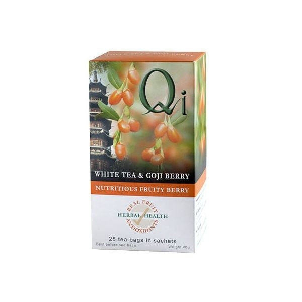 Qi Organic White Tea & Goji Berry 20bag - Vitalityfoods