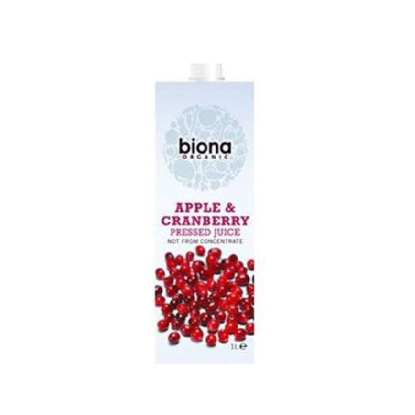 Biona Org Apple & Cranberry Juice 1000ml - Vitalityfoods
