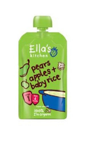 Ellas Kitchen S1 Baby Rice - Pear & Apple 120g - Vitalityfoods