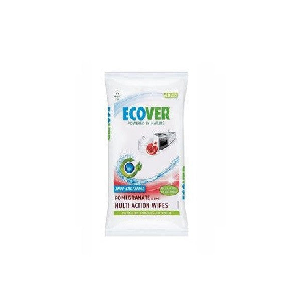 Ecover Antibacterial Wipes 40wipes - Vitalityfoods