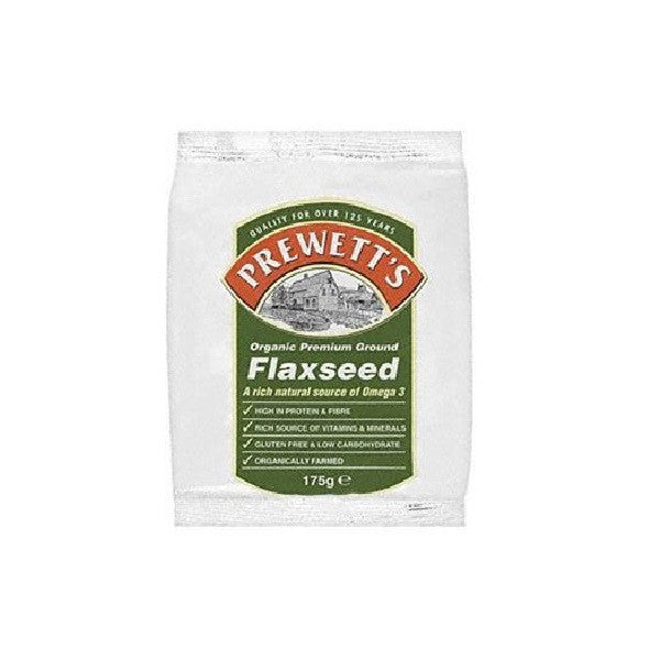 Prewetts Org Ground Flaxseed 175g - Vitalityfoods