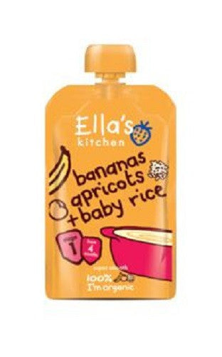 Ellas Kitchen S1 Baby Rice Banana & Apricot 120g - Vitalityfoods