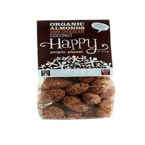 Happy People Org FT Almonds D. Choc Coconut 120g - Vitalityfoods