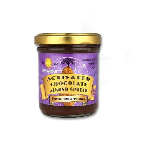 Raw Ecstasy Activated Choc Almond Spread 140g - Vitalityfoods