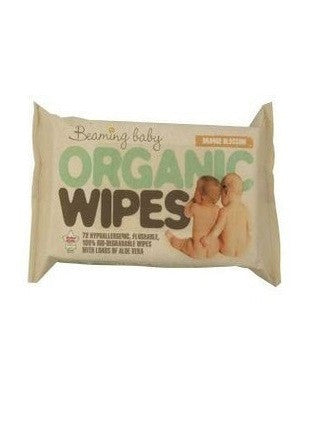 Beaming Baby Org Baby Wipes 72 Wipespack - Vitalityfoods