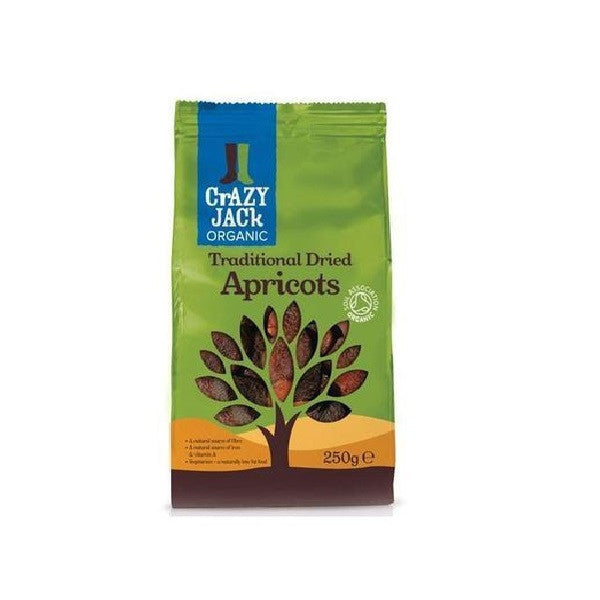 Crazy Jack Organic Dried Apricots 250g - Vitalityfoods
