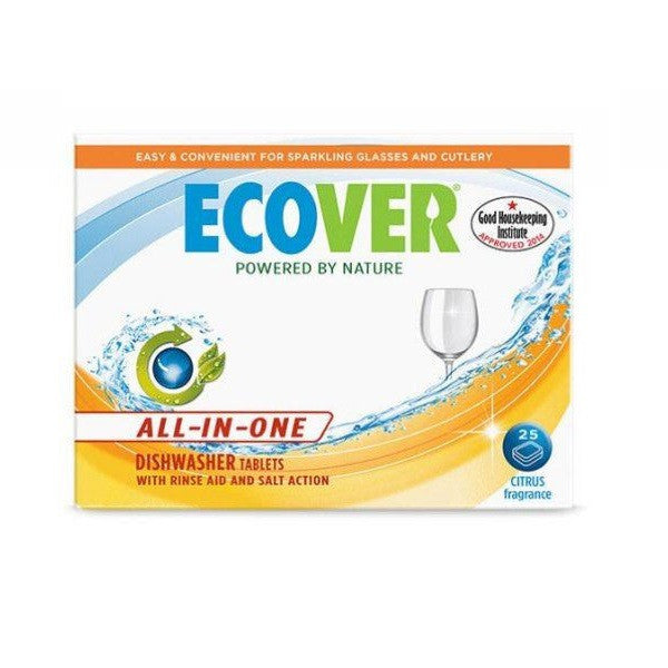Ecover All in One Dishwasher Tab 25 tablet - Vitalityfoods