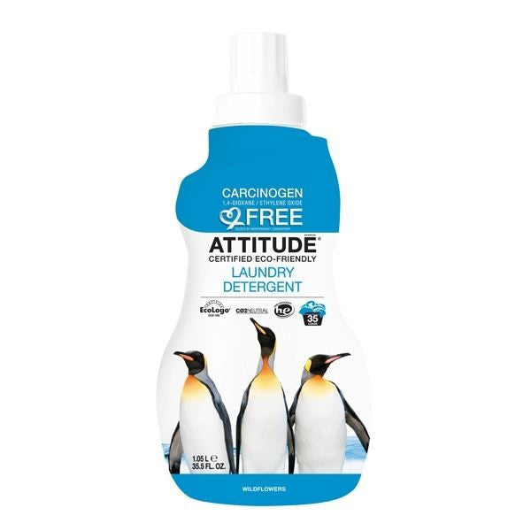 Attitude Laundry Liquid Wildflowers 1050ml - Vitalityfoods