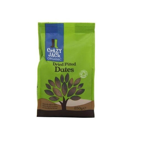Crazy Jack Organic Dried Pitted Dates 250g - Vitalityfoods