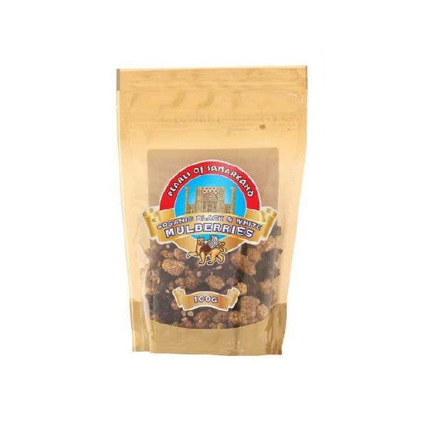Pearls of Samarkand Org Black Mulberries 100g - Vitalityfoods