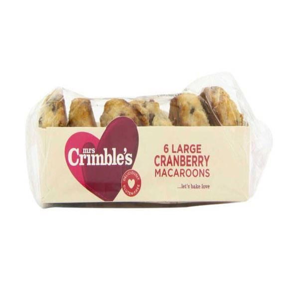 Mrs Crimbles Coconut Macaroons & Cranberry 6pack - Vitalityfoods