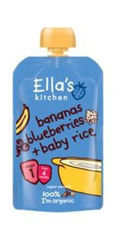 Ellas Kitchen S1 Banana Blueberry Baby Rice 120g - Vitalityfoods