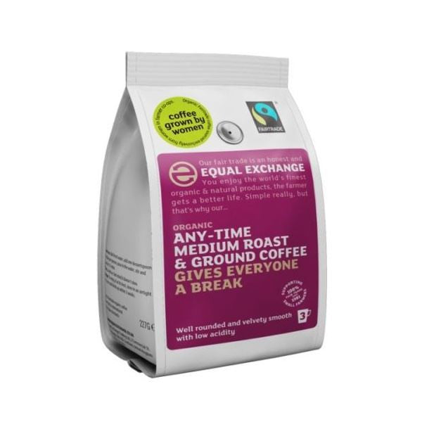 Equal Exchange Org F/T Med Ground Coffee 227g - Vitalityfoods
